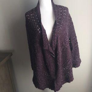 Free People boho heathered purple/grey shawl shrug